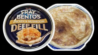 Fray Bentos Chicken  Mushroom Pot Pie IN A CAN  WHAT ARE WE EATING - The Wolfe Pit
