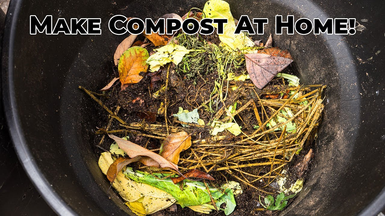 composting how to make your own compost at home youtube. Black Bedroom Furniture Sets. Home Design Ideas