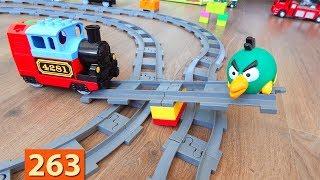 Машинки Мультики про Паровозики: Переправа - Город машинок 263 серия Мультики для детей про игрушки