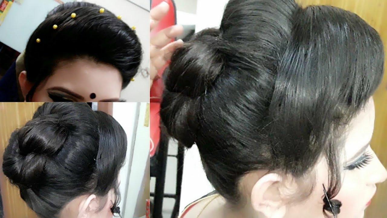 Bun Hairstyle || Bengali Hairstyle | Bengali hairstyle khopa | hair style in Per lour | Sharmin ...