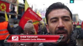 A MILANO COME A STRASBURGO In piazza per il Popolo Curdo