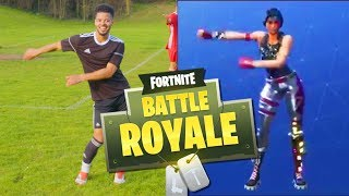 AMAZING FORTNITE CELEBRATIONS IN FOOTBALL (Fortnite Battle Royale) thumbnail