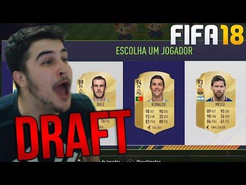 FIFA 18 FUT DRAFT - CR7 E MESSI NO PRIMEIRO DRAFT DO FIFA 18