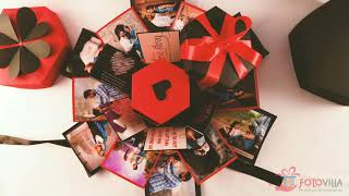 Hexagonal Explosion Box | Handcraft Gift | Gift for him | Gift for her | Crafted Gift | fotovilla.in