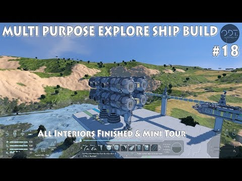 [#18] SPACE ENGINEERS Ep.18: Multi purpose explore ship build & all interiors finished
