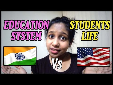 STUDYING IN INDIA VS USA🖊 |EDUCATION SYSTEM & STUDENTS MINDSET | BY Official Jhalli