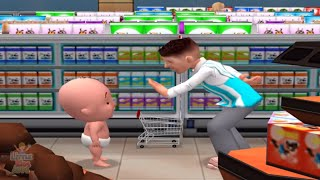 baby learn to be polite in supermarket fun and educational ipad game for kids