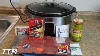 Mississippi Roast Recipe using Round Steak in the Cosori Slow Cooker