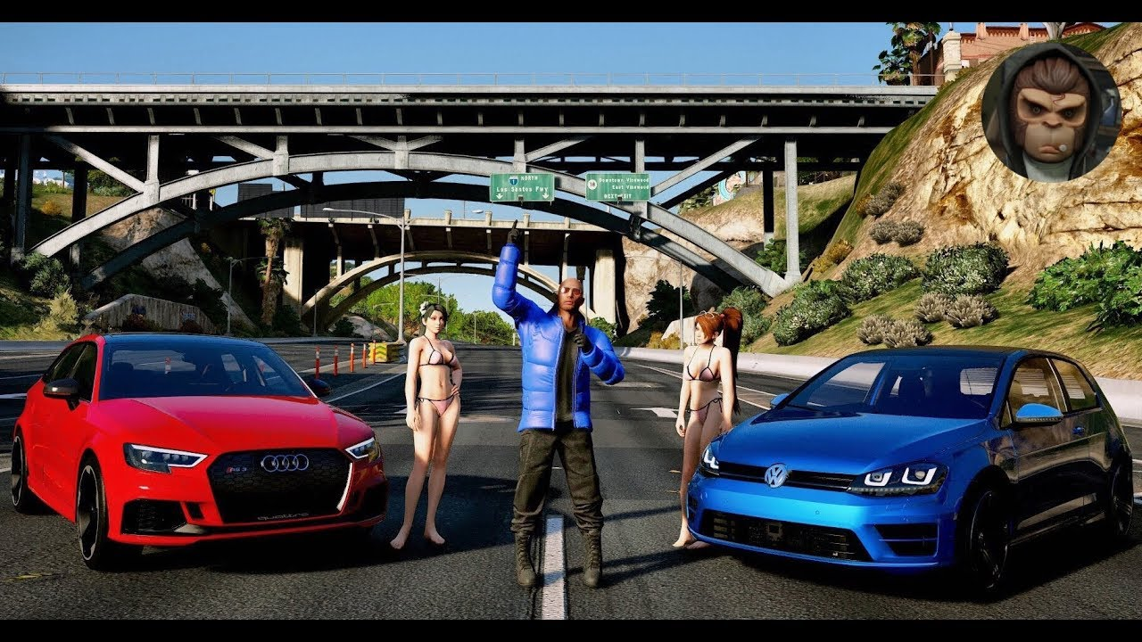 GTA 6 realistic Graphics Audi RS3 vs Golf R