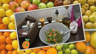 №15. Салат с грейпфрутом, рукколой и шпинатом