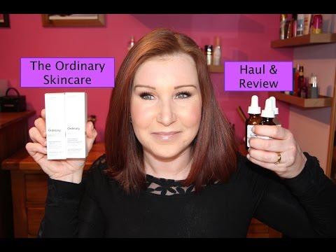 The Ordinary Skincare Haul - Niacinamide, Argan Oil, Rosehip Oil, Buffet, Retinoid - 동영상