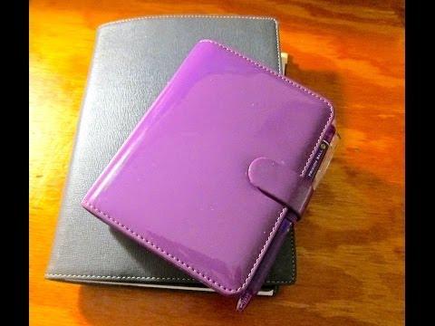 Filofax Patent Purple Pocket