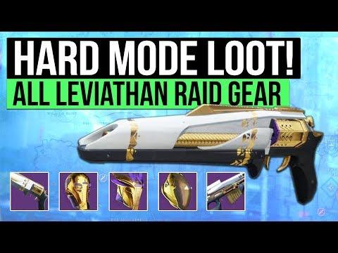 Destiny 2   HARD MODE LOOT! - All Leviathan Raid Loot & Prestige Mode Armor / Weapons!