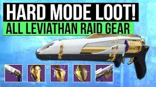 Destiny 2   HARD MODE RAID GEAR! - Prestige Mode Armor / Weapons & Full Leviathan Raid Loot Table!