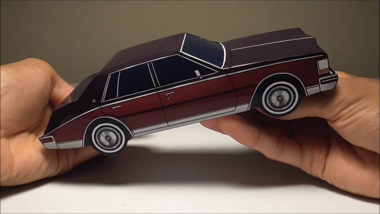 Papercraft JCARWIL PAPERCRAFT 1980 Cadillac Seville (Building Paper Model) Time Lapse