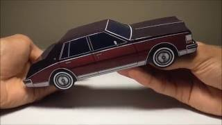 JCARWIL PAPERCRAFT 1980 Cadillac Seville (Building Paper Model Car)