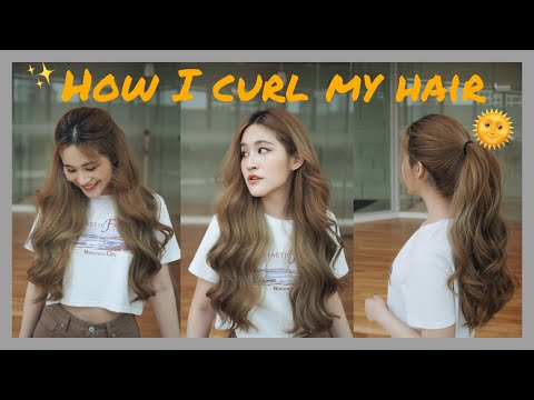 How I curl my hair ม้วนผมง่ายๆ ลอนอลังการเหมือนออกจากร้านทำผม    Btbaitoay