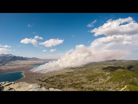 Timelapse: Prescribed fire in Waterton Lakes National Park