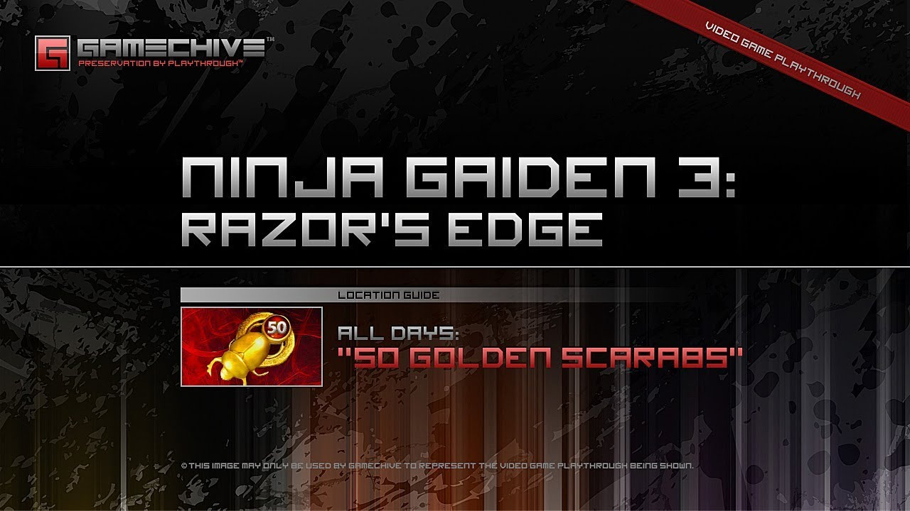 Ninja Gaiden 3 Razor S Edge Ps3 Gamechive Golden Scarabs