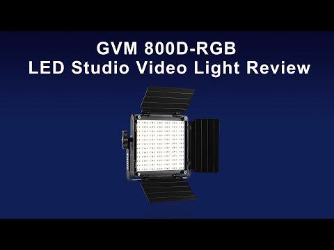 GVM 800D-RGB LED Studio Video Light Review