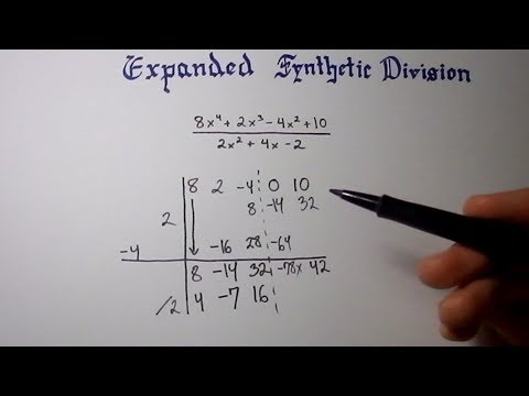 EXPANDED Synthetic Division...You Bet It's Possible. (No More Long Division Of Polynomials)
