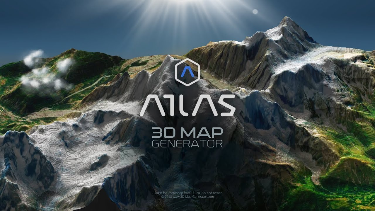 3D Map Generator - Atlas - Photoshop Plugin