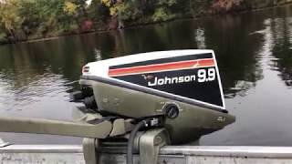 1975 Johnson 9.9hp outboard motor