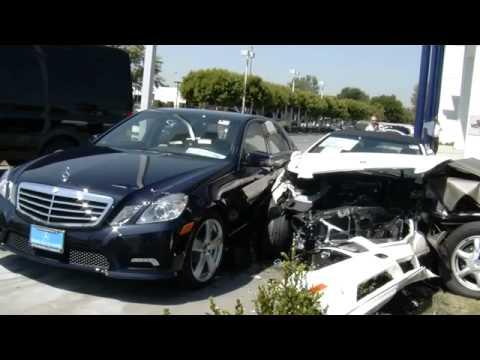 Elderly driver wrecks new cars at Mercedes dealership - 2011-04-11
