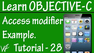Free Objective C Programming Tutorial for Beginners 28 - Access Modifier in Objective C