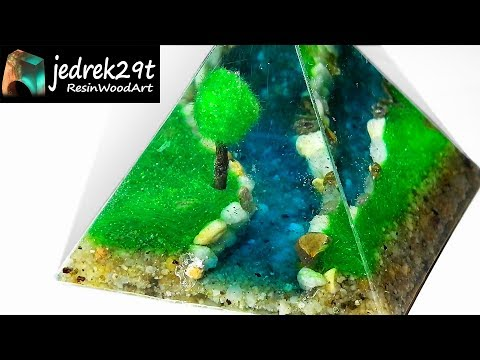 DIY. Diorama from Resin. Landscape from Resin