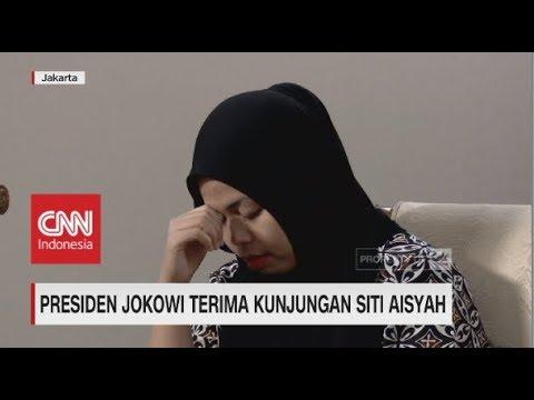 Jokowi Terima Kunjungan Siti Aisyah