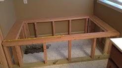 Custom Build A Bathtub Frame, Install A Bathtub And Walk-In Shower