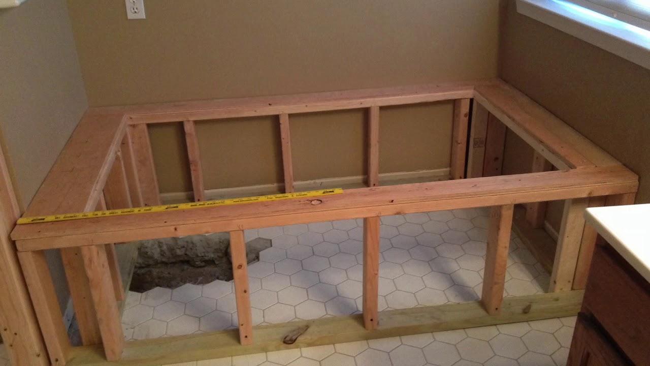 Custom Build A Bathtub Frame Install A Bathtub And Walk