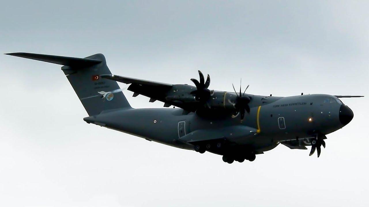 MEDICAL SUPPLIES | Turkish Air Force Airbus A400M Landing At Belgrade Airport