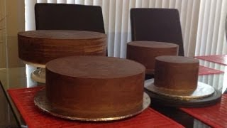 How to ganache your cake for fondant sharp edges