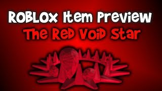 ROBLOX Item Preview - Red Void Star