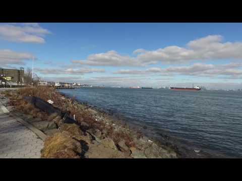 Staten Island - st. Georg ferry and part of Manhatten