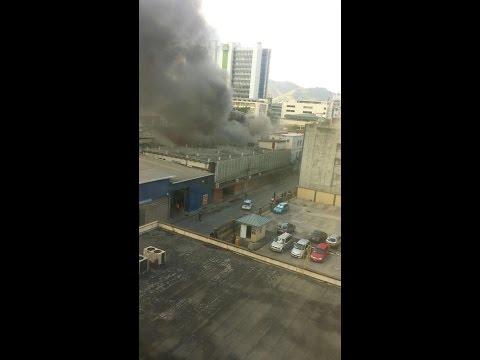 Fire Officials Battling Blaze In Port Of Spain