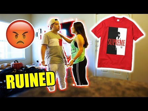 Download Youtube: WIFE COMPLETELY DESTROYS MY $100 SUPREME SHIRT!! HYPEBEAST PRANK GONE TOO FAR!!