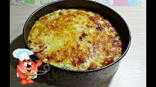 картофельная запеканка в духовке сосиска сыр рецепт