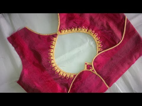 new and easy different model blouse neck designe cutting and stitching at home