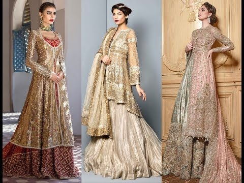 Latest Stani Bridal Dresses Open Jacket And Long Tales Wedding