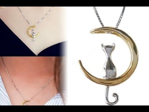 Gold Cute Cat Necklace for cat lover | Clean Kat