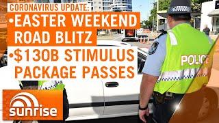 Coronavirus update: Police plan road blitz on Easter travel | 7NEWS