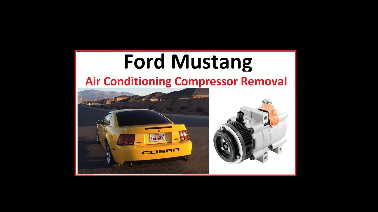 Ford mustang air conditioning compressor removal youtube