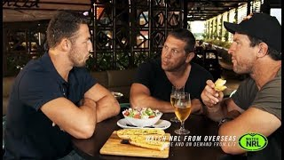 Sam Burgess goes for dinner with Fletch and Hindy