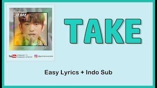 JUS2 - TAKE (OST. He Is Psychometric) Easy Lyrics by GOMAWO [Indo Sub]