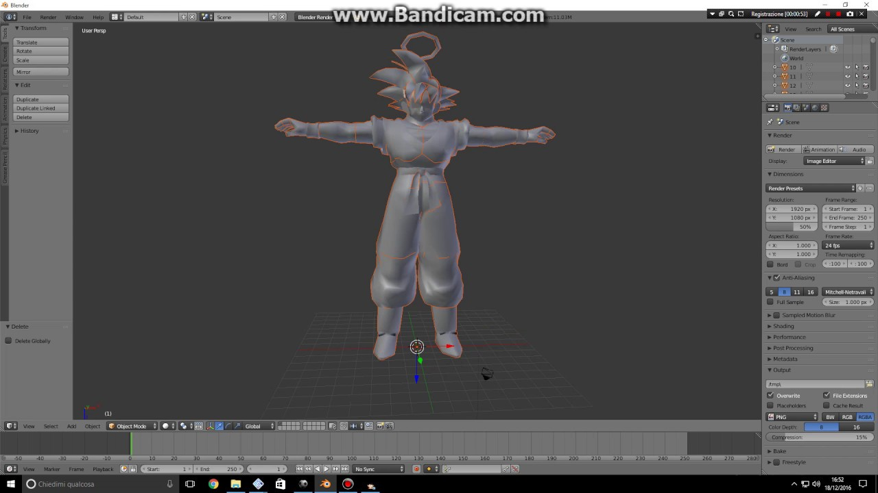 Full 3d Export Of Budokai Tenkaichi 3 Models Using Blender