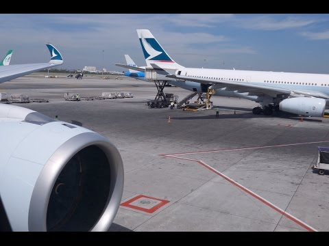Cathay Pacific CX713 A350-900 Flight Experience in 4K | Bang