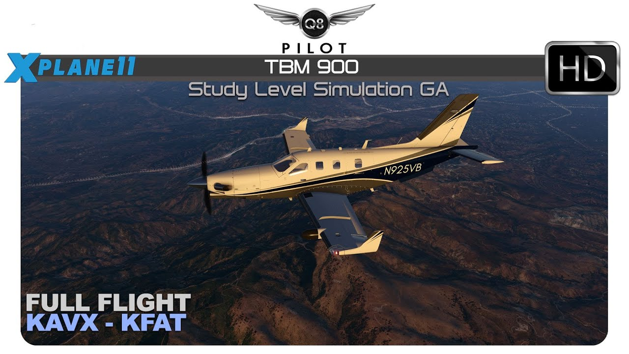 X-Plane] Hot Start TBM 900 for X-Plane 11 | Full Flight | KAVX